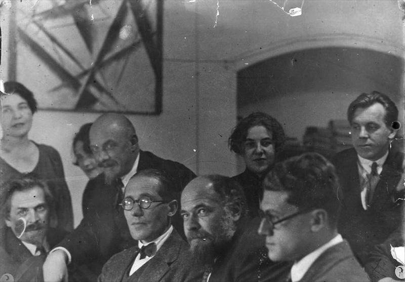 Ле Корбюзье, братья Веснины и Андрей Буров. Москва, 1928 г.