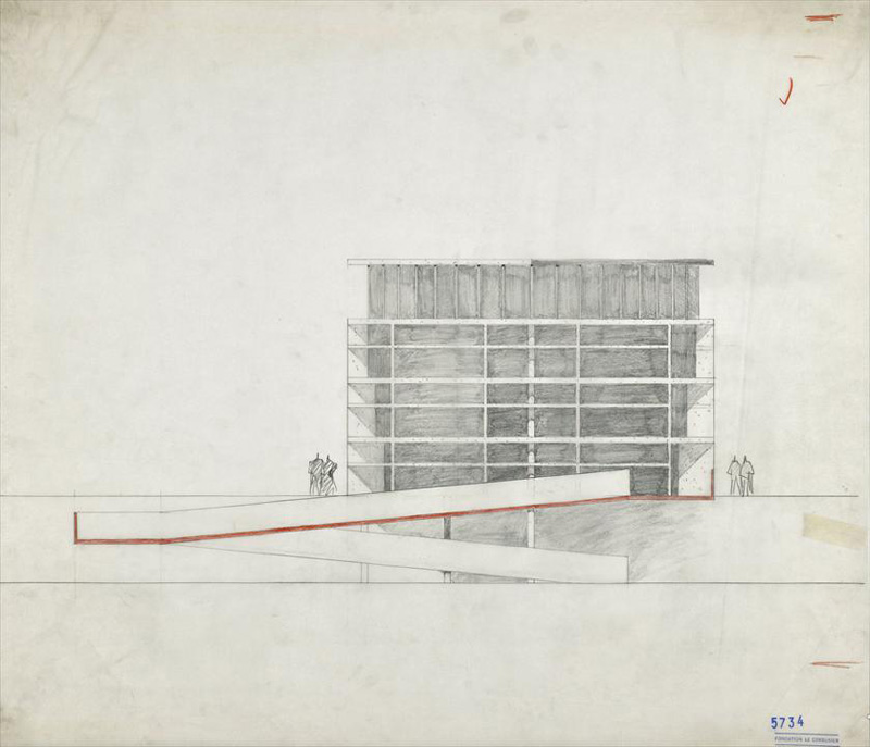 Ле Корбюзье / Le Corbusier. Башня Теней (Tower of Shadow), Чандигарх (Chandigarh), Индия. 1950-1965