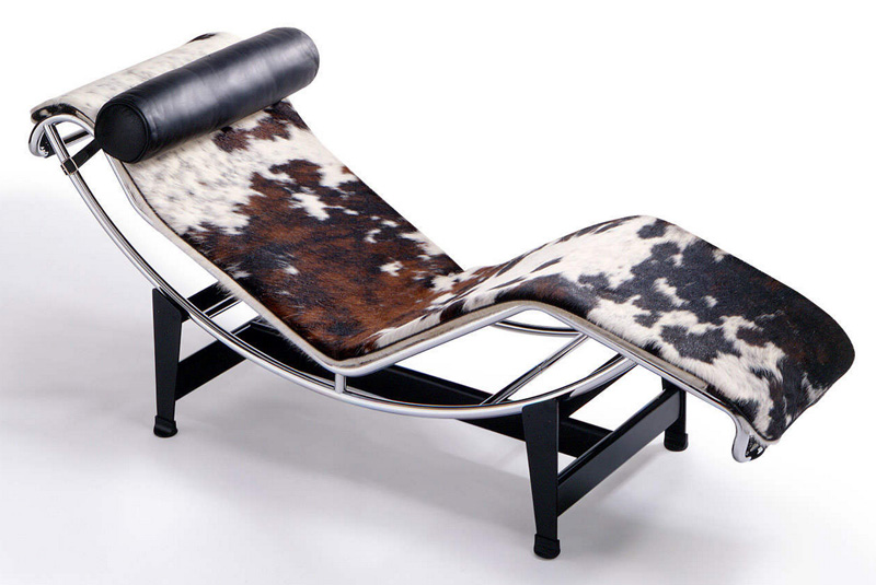 Шезлонг LC4 Chaise Longue. Le Corbusier. Ле Корбюзье. 1928. Cassina