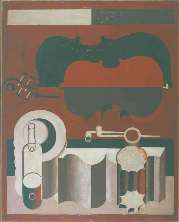 Ле Корбюзье / Le Corbusier, Nature morte au violon rouge, 1920
