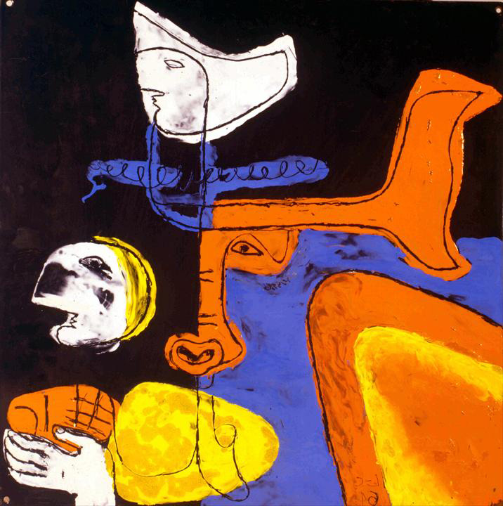 Ле Корбюзье / Le Corbusier, Taureau orange et bleu, 1964