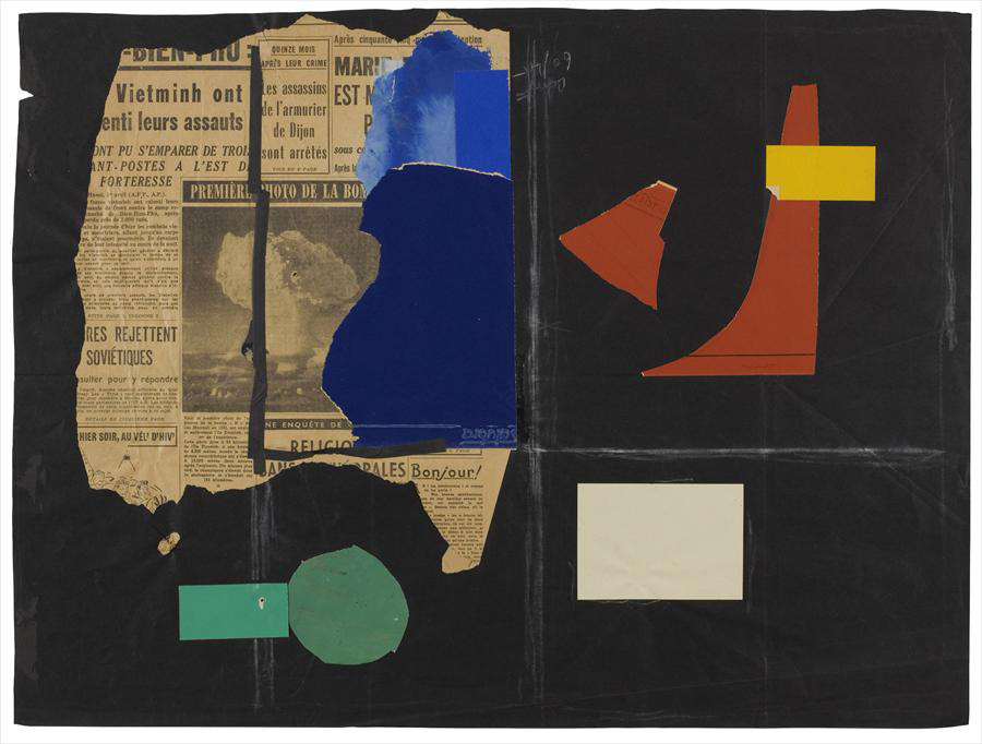 "Ле Корбюзье / Le Corbusier, Composition avec photo de la bombe ""H"", 1952"