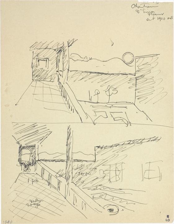 Ле Корбюзье / Le Corbusier, Croquis Chartreuse d'Ema (Florence), 1911