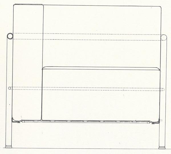 Кресло LC2. Le Corbusier. Ле Корбюзье. 1929. Рабочие чертежи для современного производства «Комфортабельного кресла» (большая модель):