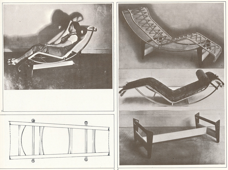 Шезлонг LC4 Chaise Longue. Le Corbusier. Ле Корбюзье. 1928