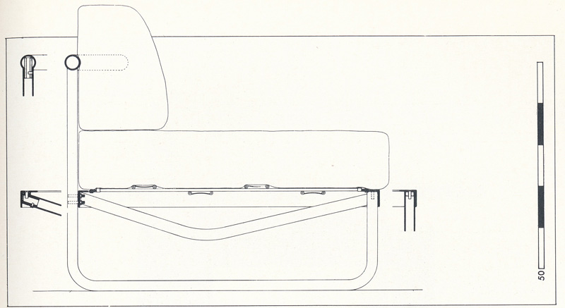 Софа LC5. Le Corbusier. Ле Корбюзье. 1934