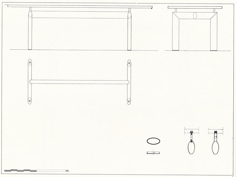 Стол LC6 Petit Modele. Le Corbusier. Ле Корбюзье. 1928