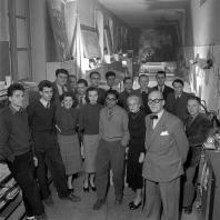 Ле Корбюзье в мастерской на rue de Sèvres, 35. Париж. 1953. Фотограф: Willy Rizzo